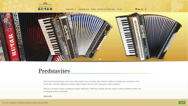 Spletna stran rutarharmonika.com